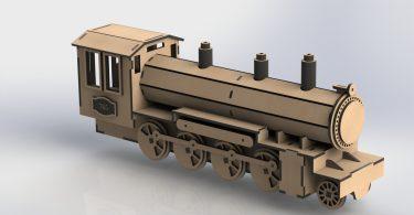Locomotive train. Vector file for laser cdr file