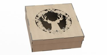Laser Cut Wood Box cdr file for laser cutting or cnc router