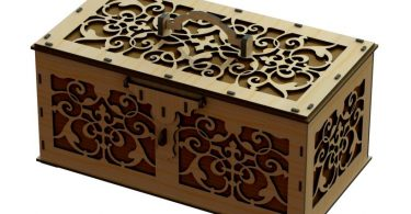 laser cut box template free dxf files for cnc router.