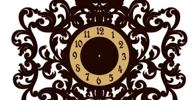 Clock Monogram free laser cutter projects download