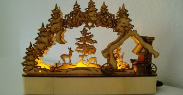 LaserCut candle arch Laser Cutting Projects download