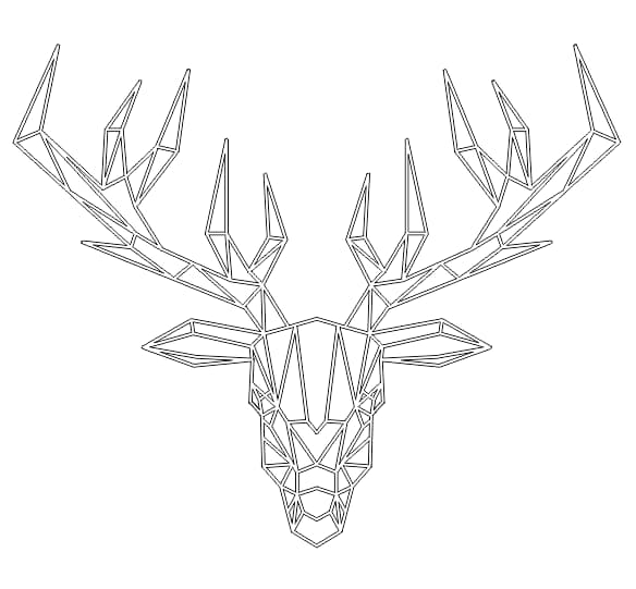 Deer free vector download DXF Files