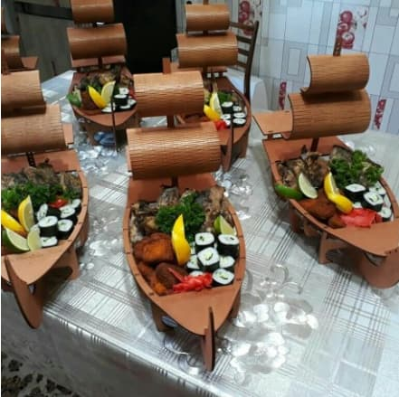 Laser Cut Sushi Boat Template Free Vector