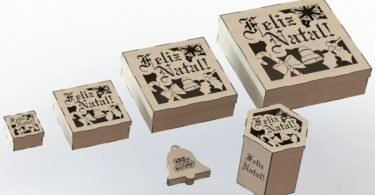 laser cut wood boxes