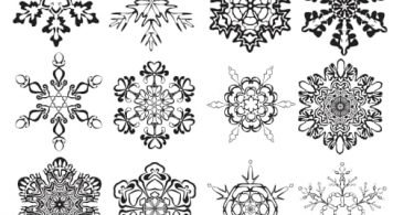 snowflake clipart Vector file download