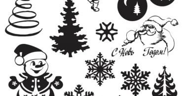 freevector Christmas snowflake vector