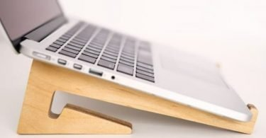 wood laptop stand