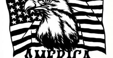 american flag clip art vector free