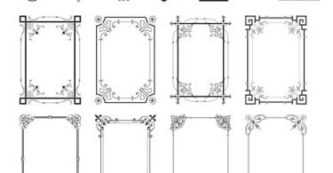 corel draw borders frames free download