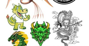 dragon vector free download