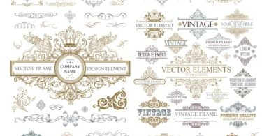 free download vector frame vintage