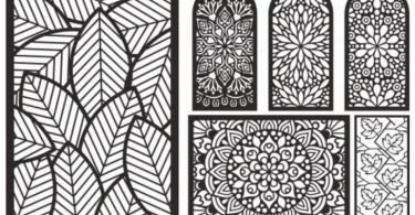 laser cut patterns vector