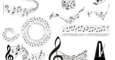 music notes free vector
