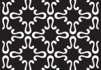 Design Seamless Monochrome Pattern Free Vector