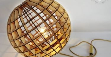 Laser Cut Wood Lamp