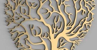 laser cut tree vector