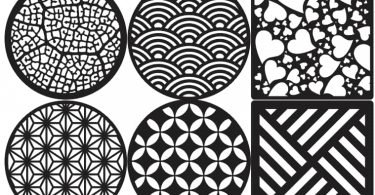 aser Cut Decorative Coasters Free Vector