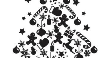 free christmas dxf files for laser cutting