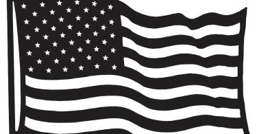 American Flag DXF