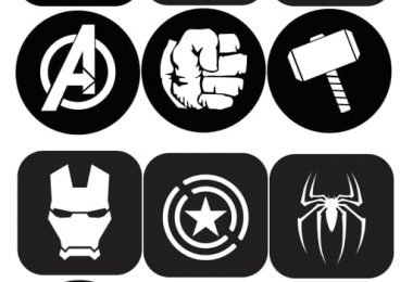Laser Cut Avengers Coasters