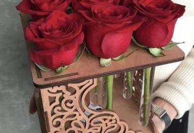 Laser Cut Rose Flower