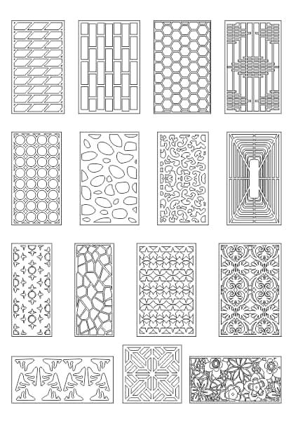 CNC Cutting Jali Design