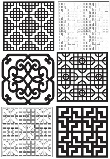 laser cut patterns