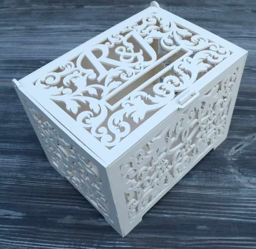 Laser Cut WedLaser Cut Wedding Card Boxding Card Box