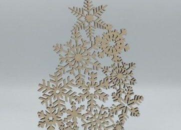 snowflake DXF